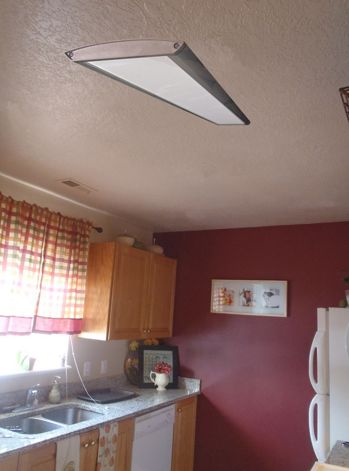 kitchen fluorescent light smoke extractor remodelaholic replacing florescent with can lights