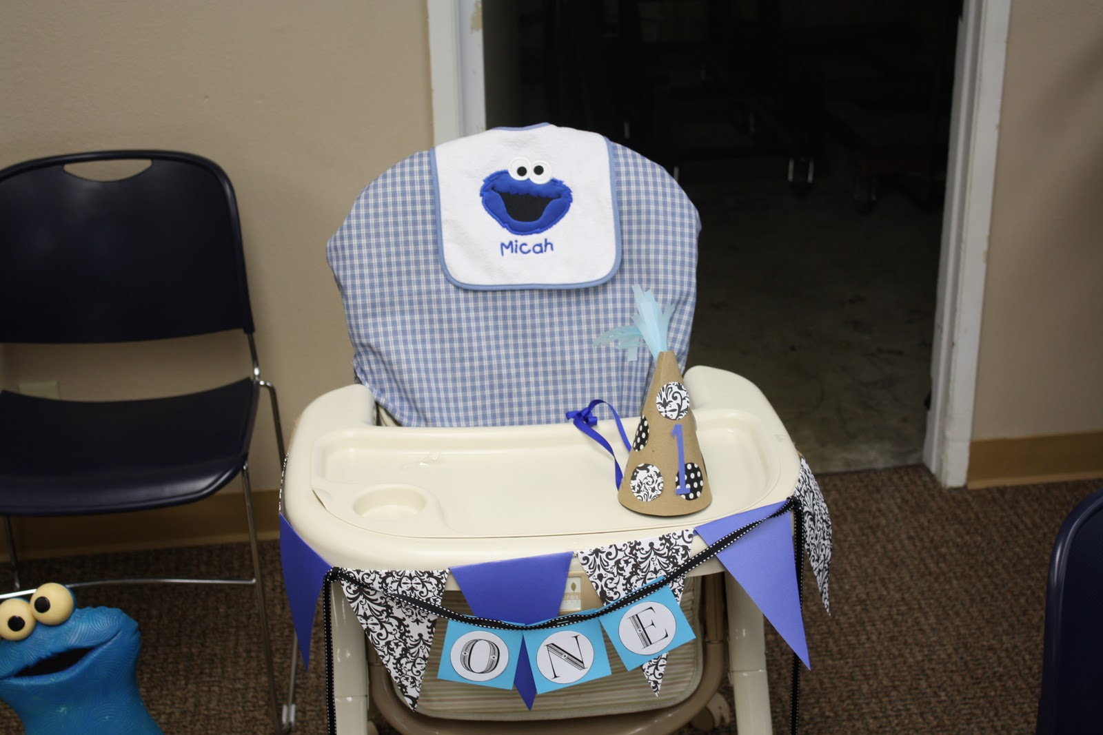 Cookie Monster Chair Modern Conference Room Chairs Inside The Blue Outside Birthday Bash