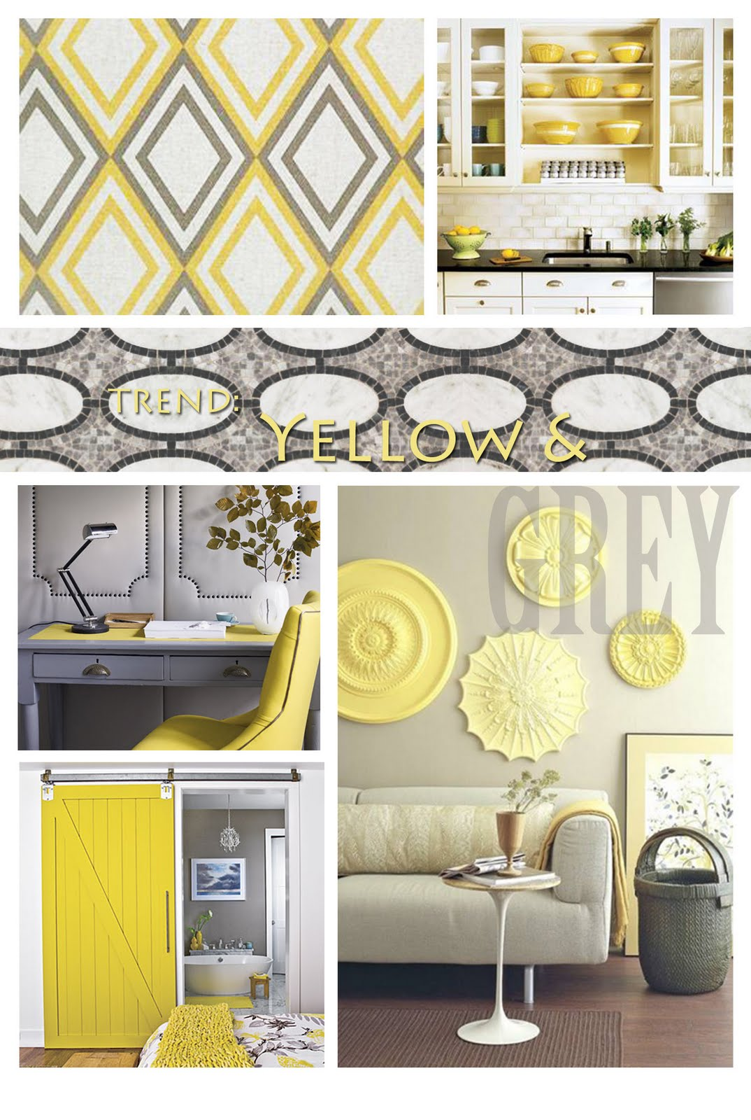 Yellow And Gray Living Room Decor: Salvage In The City
