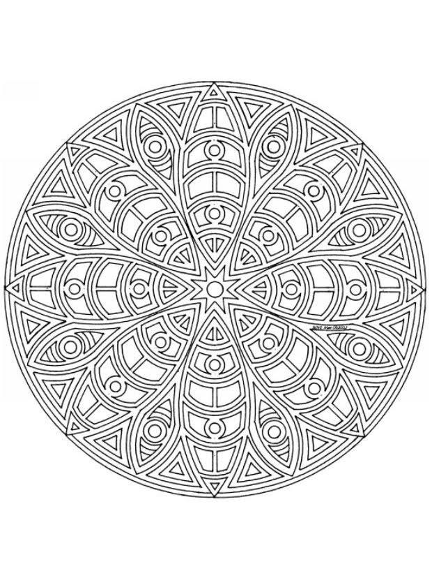 Mandalas Para Pintar: Mandala étnico