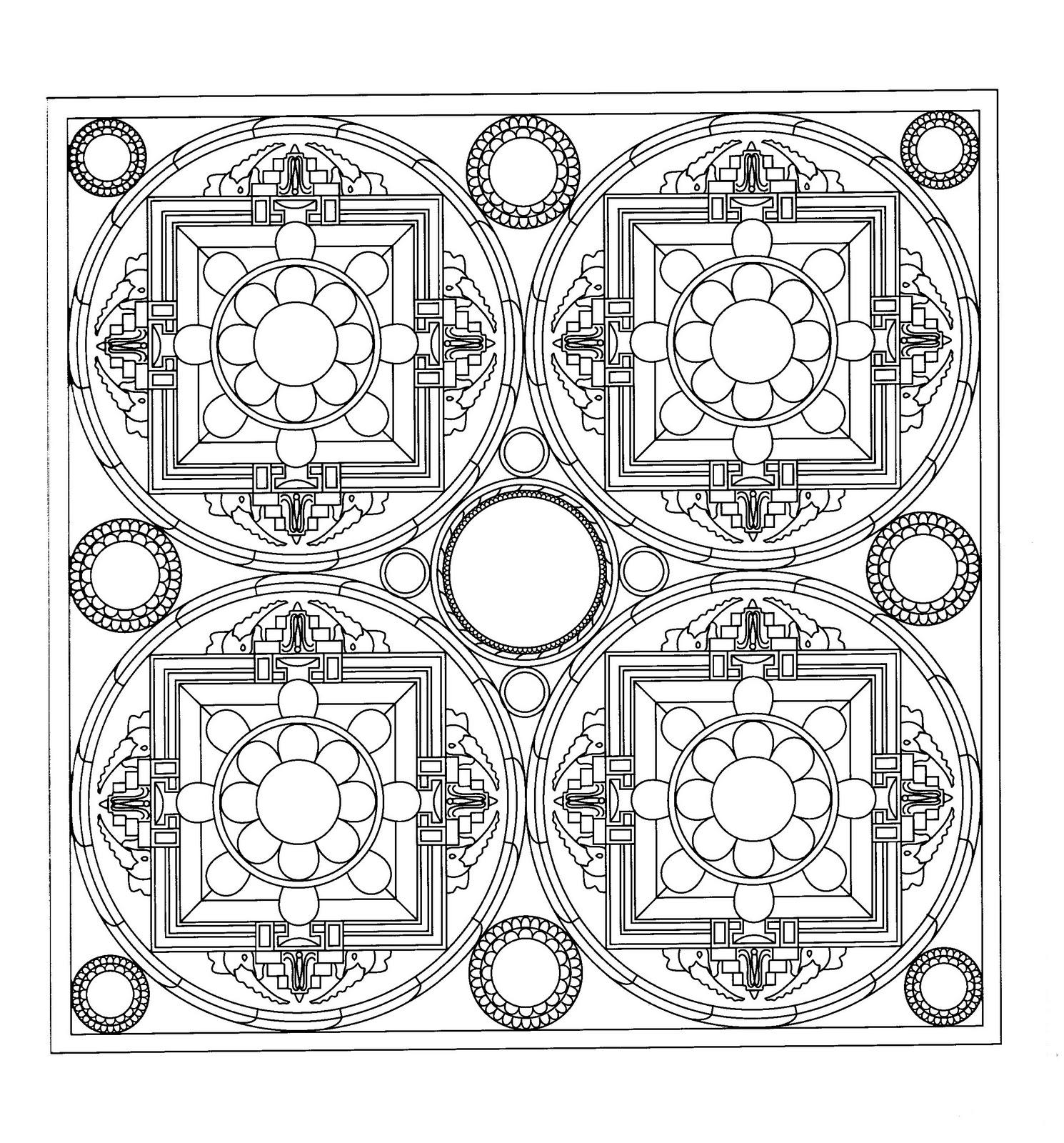 mandala coloring pages pinterest | Mandalas Para Pintar: Mandala mosaico