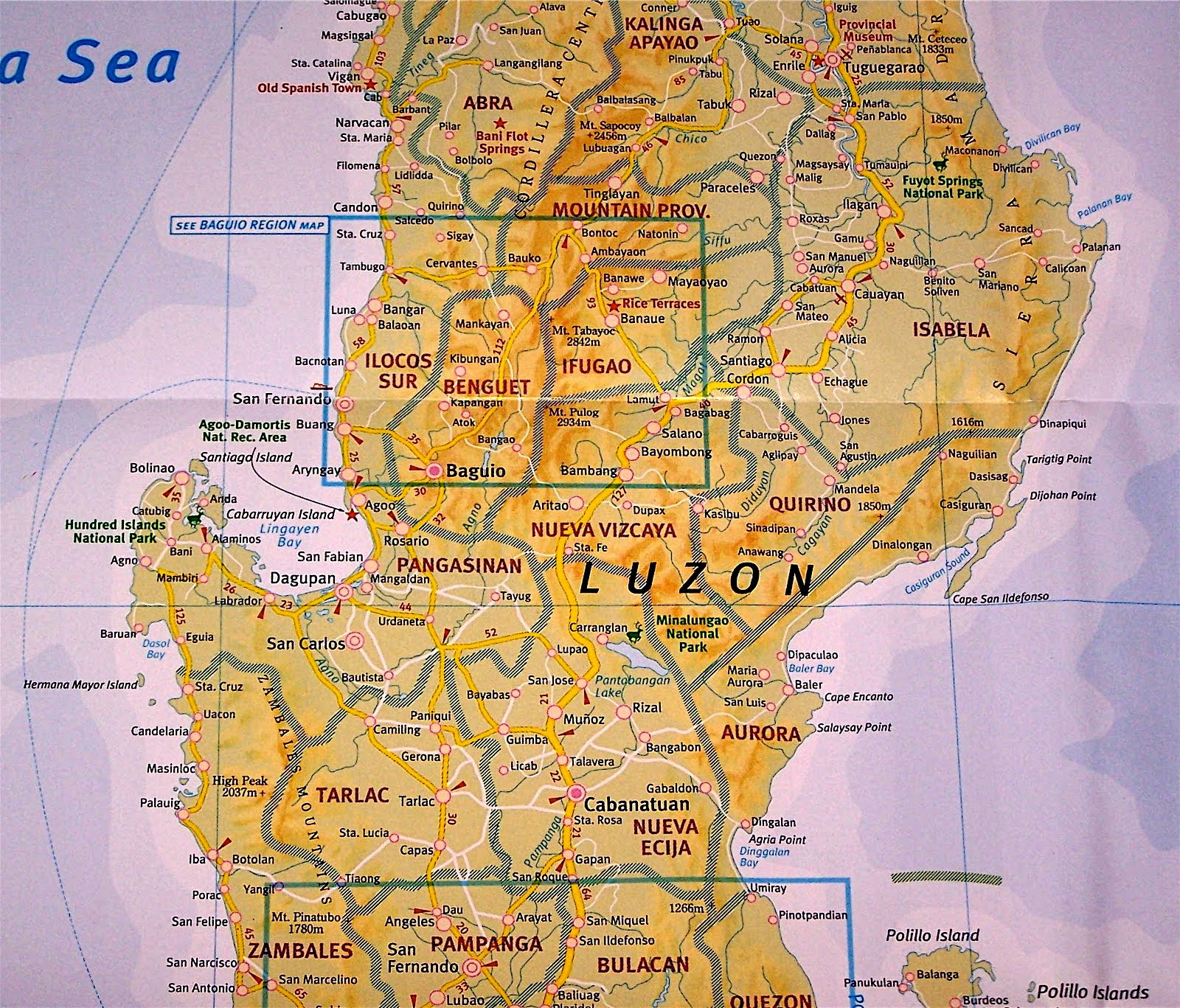 Island Philippines Luzon Baguio Map