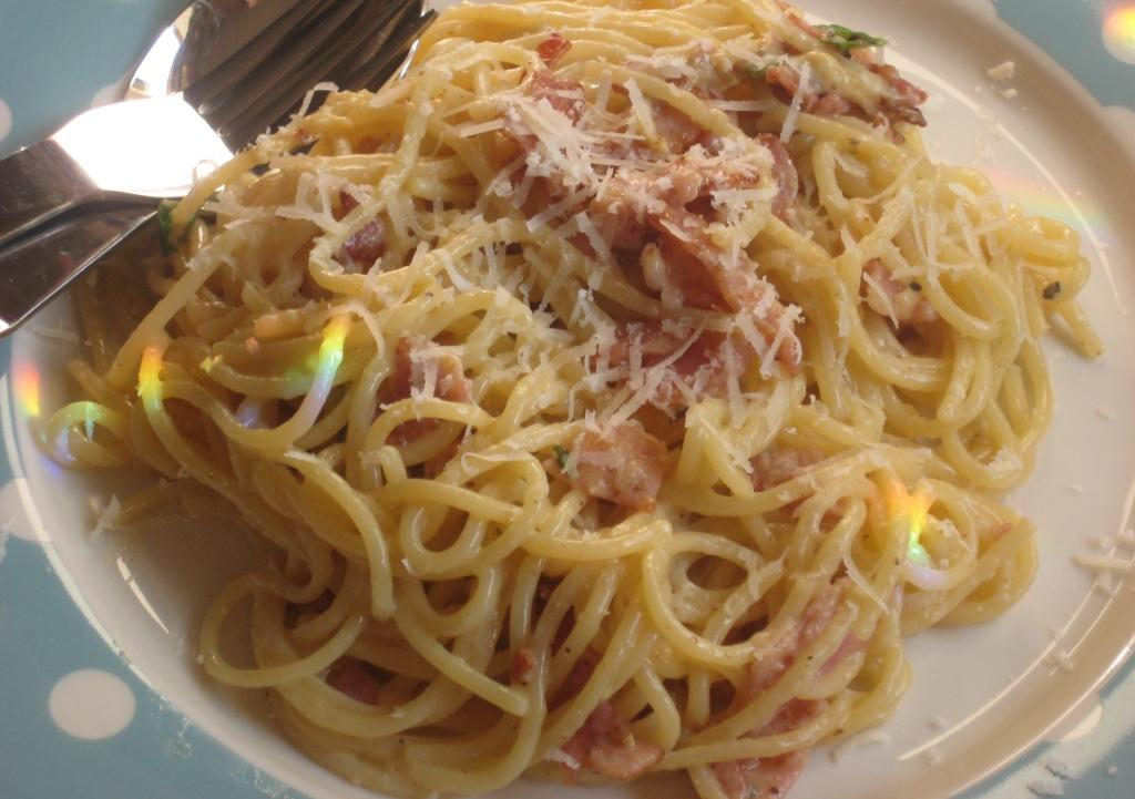 Low Fat Pasta Carbonara 118