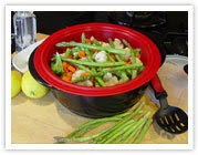 5Qt Silicone Steamer Basket with Cover