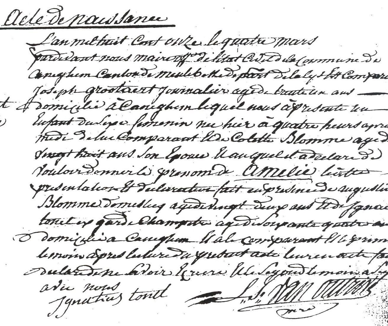 French Birth Certificate: Birth Records Belgium