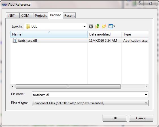 Dll using itextsharp.text.pdf