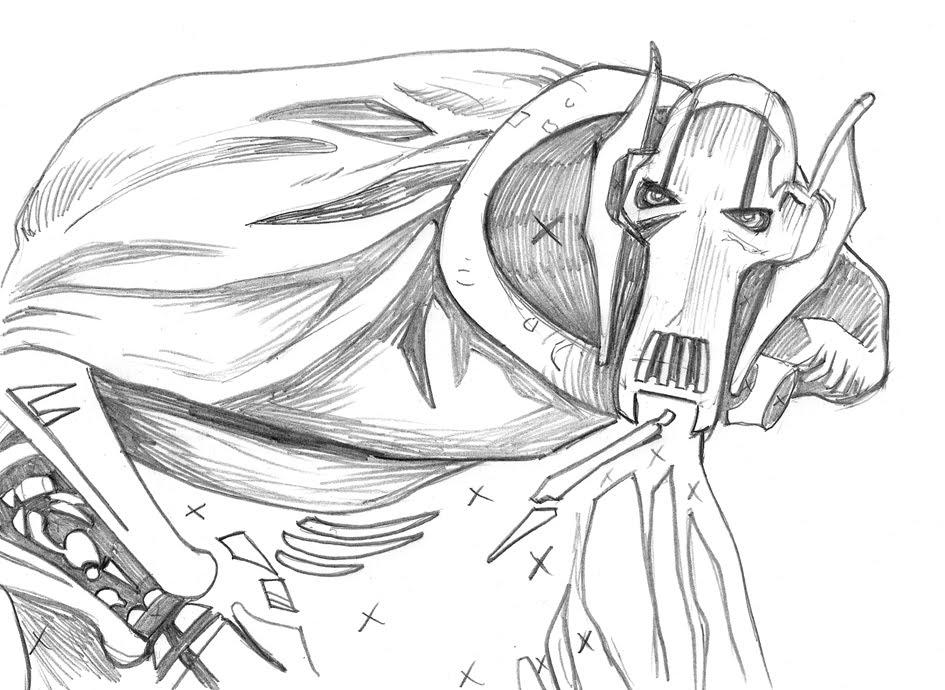 coloring pages general grievous | Grimm Tidings: July 2010