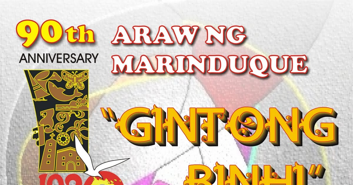 "GINTONG BINHI"" AND ARTS & CULTURE IN MIMAROPA ~ Marinduque Rising"