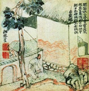 Sengyo (Jugijo) - Pintura 'haiga' de Yosa Buson