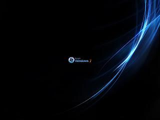 Windows 7 achtergrond met blauwe strepen