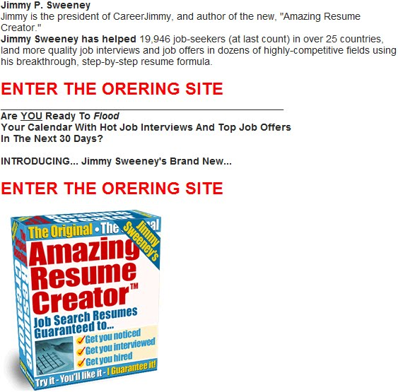 Resume Writing Software - jimmy sweeney resumes