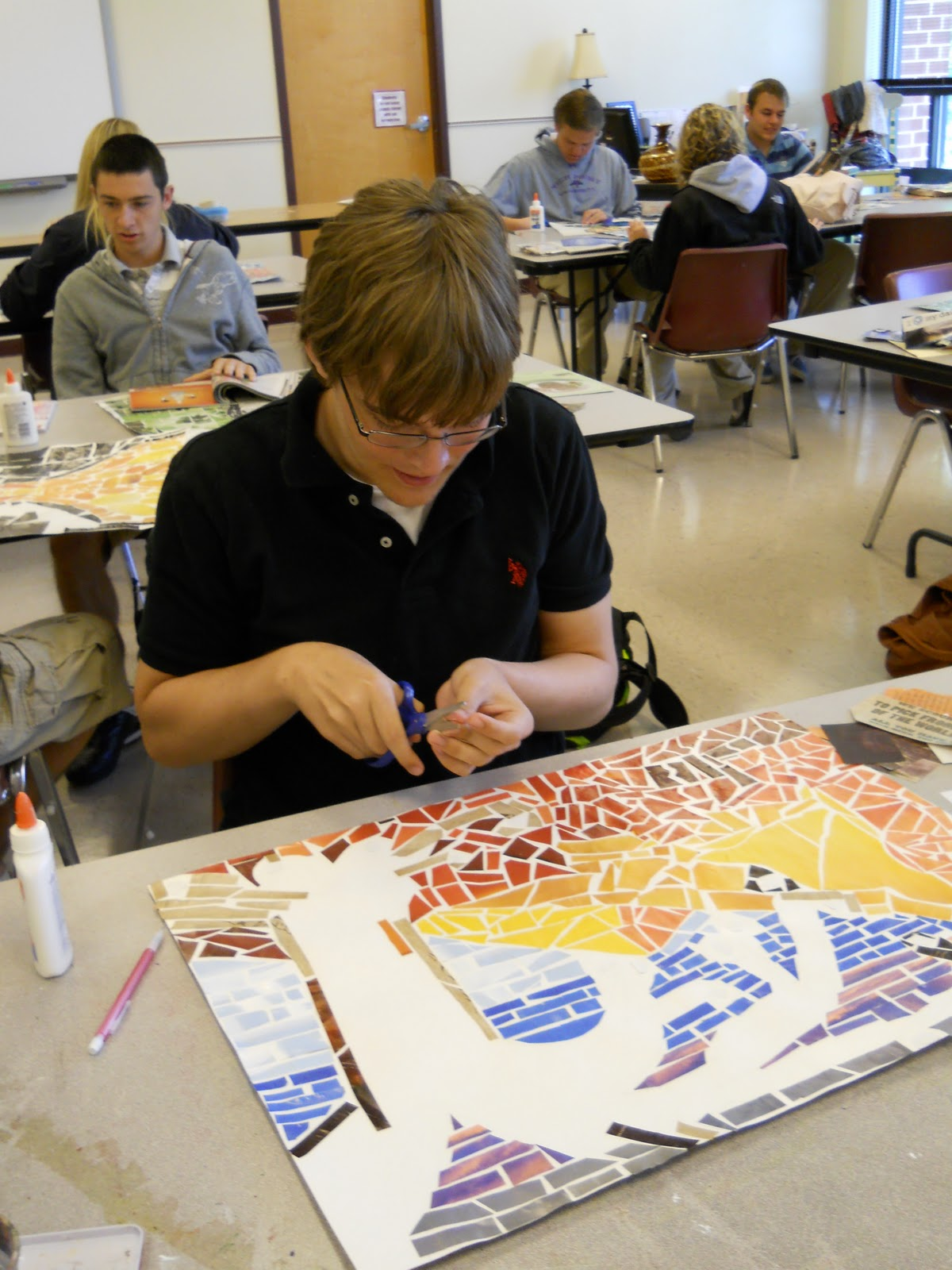 Creative Expressions High School Art Students Drawing
