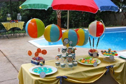 Fiesta de cumplea os en la piscina for Ideas para decorar piscinas