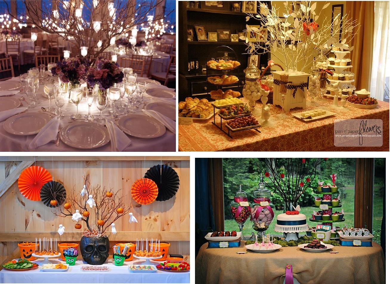 Ramas de rbol como centros de mesa - Fotos de mesas decoradas ...