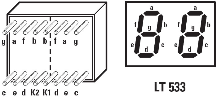 afficheur 7 segments 2 digits