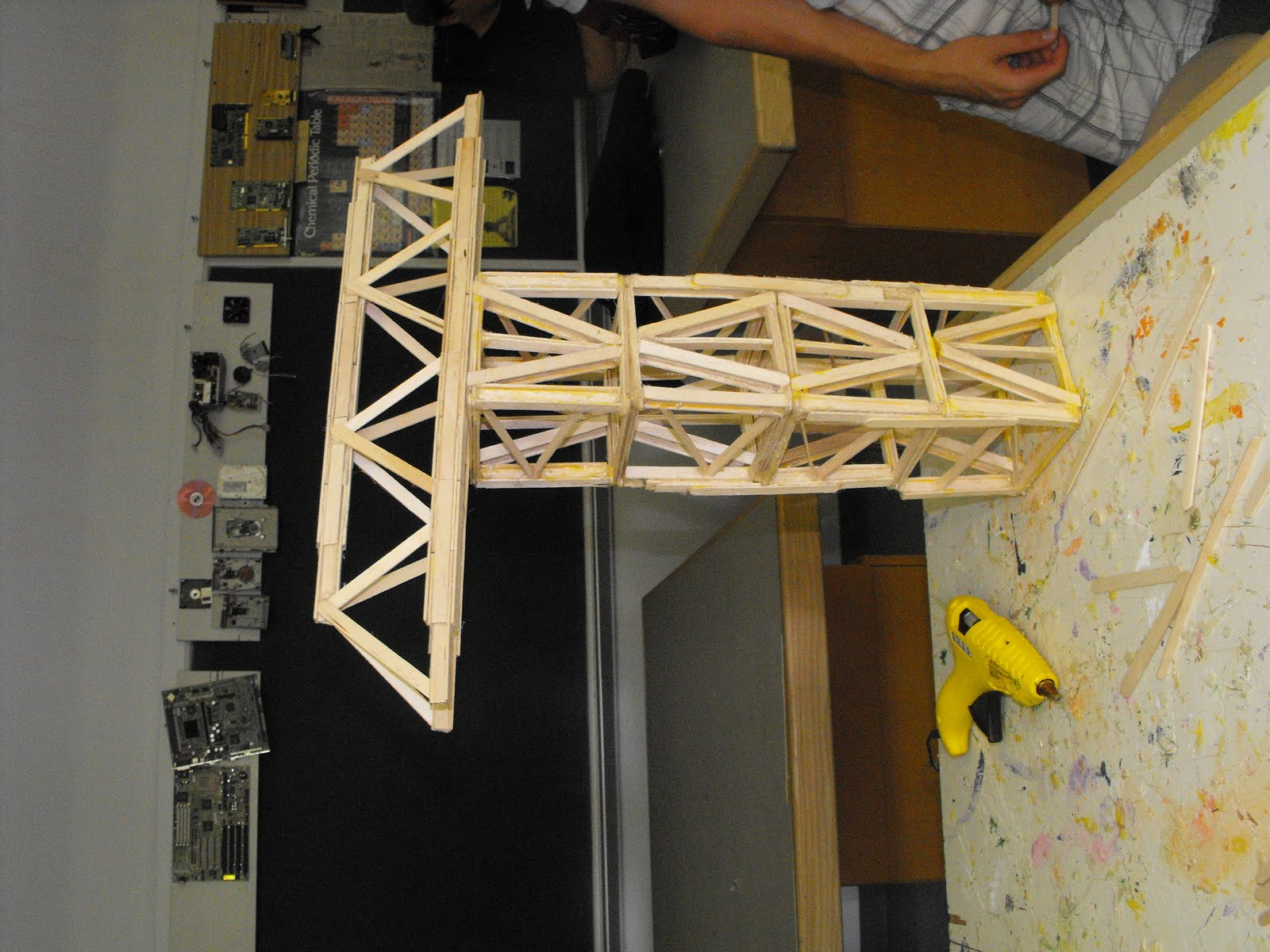 Tower Crane Using Popsicle Sticks How To Build A Popsicle Stick