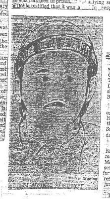 newspaper image of BTK sketch based on Kevin Bright description