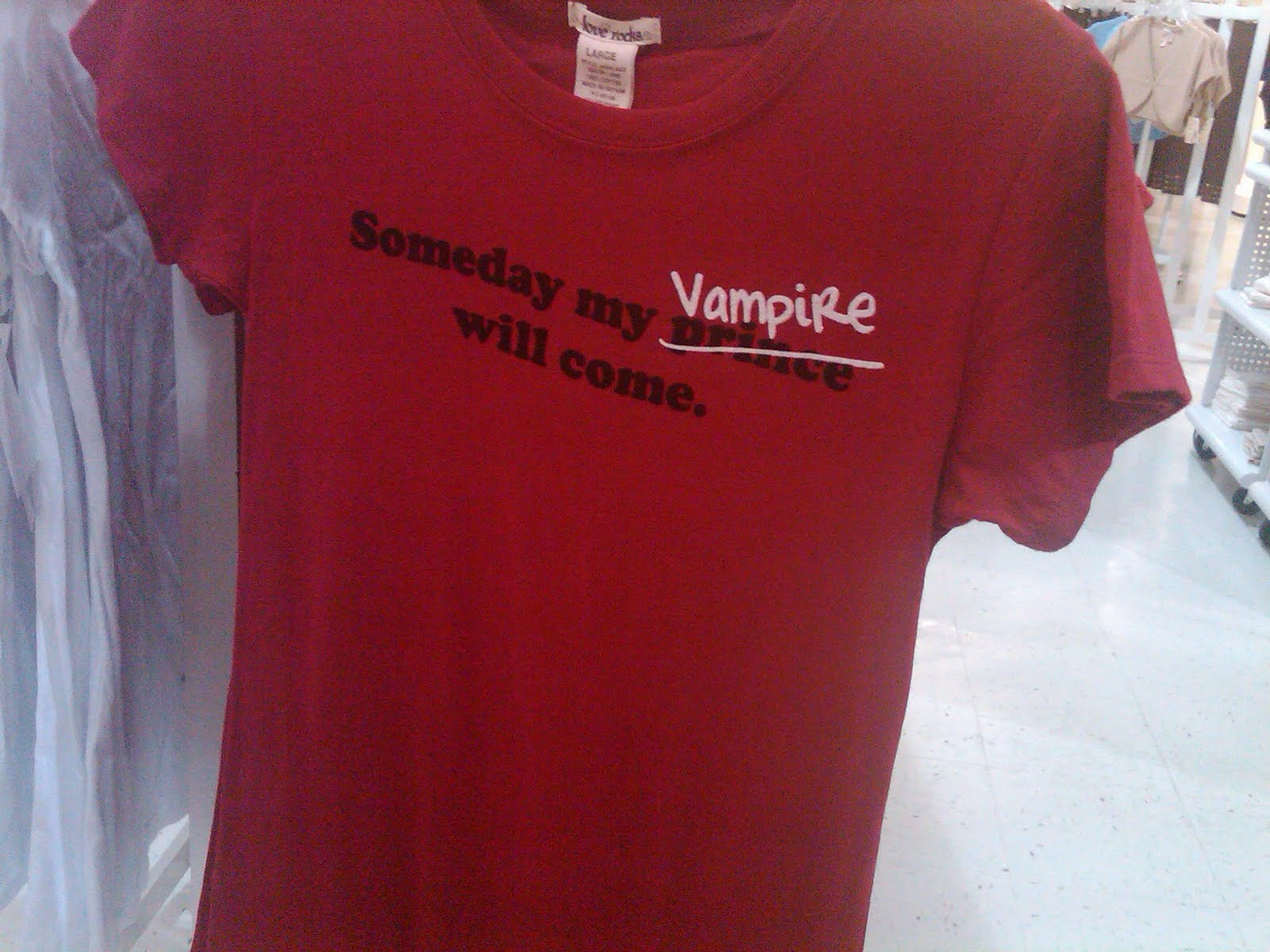 621c099df I spent the afternoon today shopping with my mom. One section of Beall's  has the most ridiculous shirts ever. All about vampires and werewolf, ...