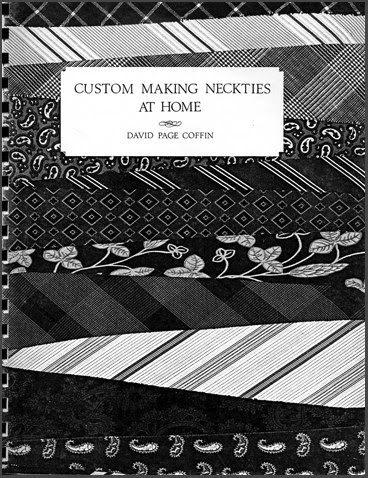 My Virtual Workshop: Making Neckties At Home
