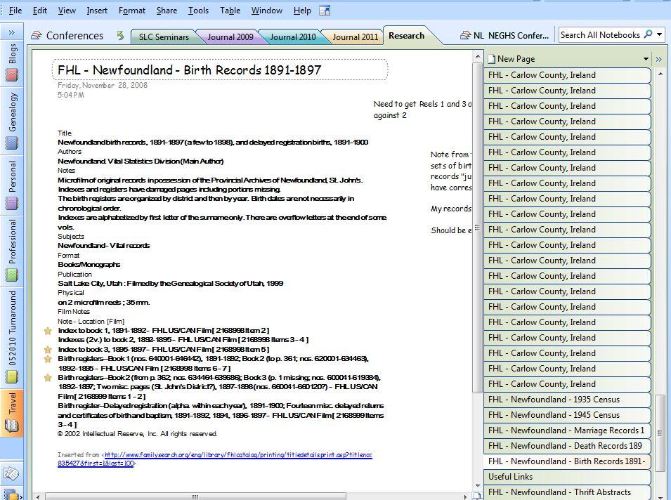 The Keough Corner SLIG 2011/Tech Tuesday ~ Microsoft\u0027s OneNote For