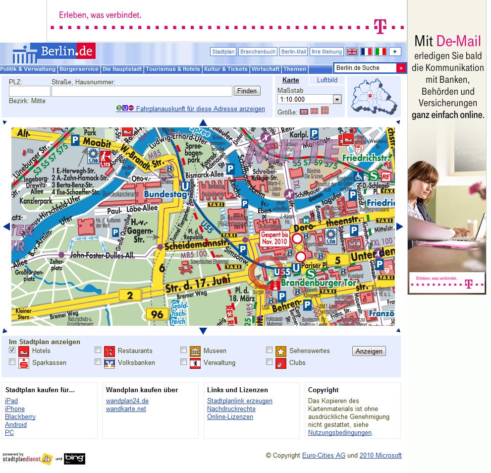 Landkartenblog: Berlin.de mit neuen Stadtplan und umfangreichen POI ...