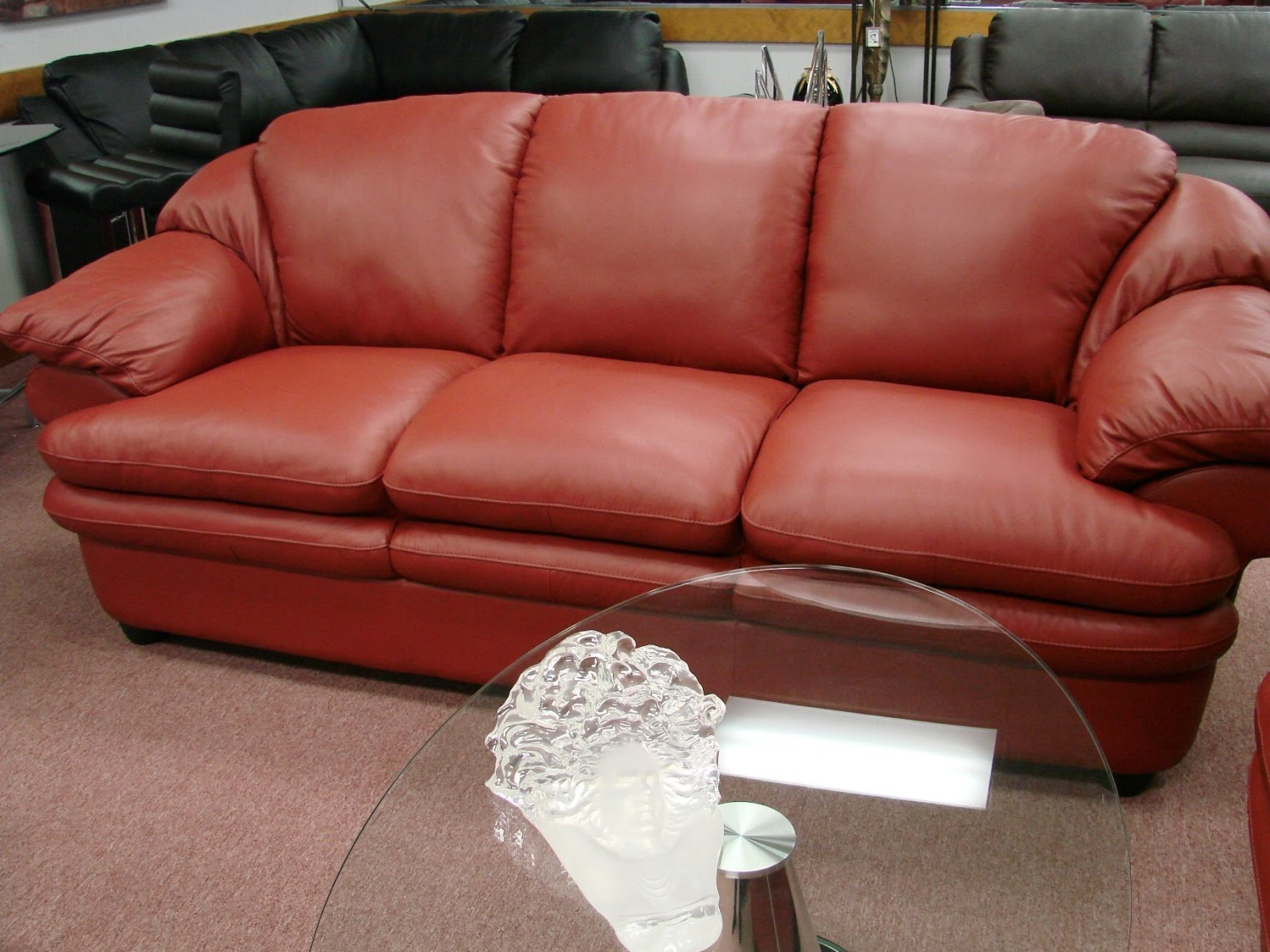 natuzzi red leather sofa and chair quality guide sofas sectionals by interior concepts