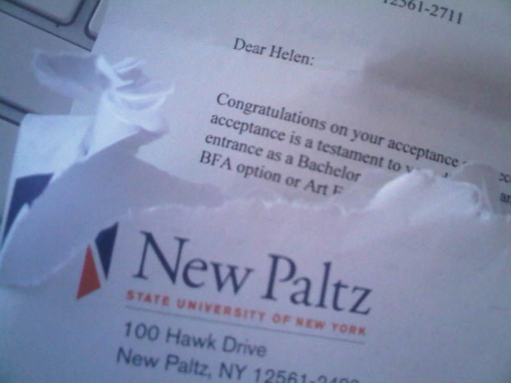 New paltz college essay