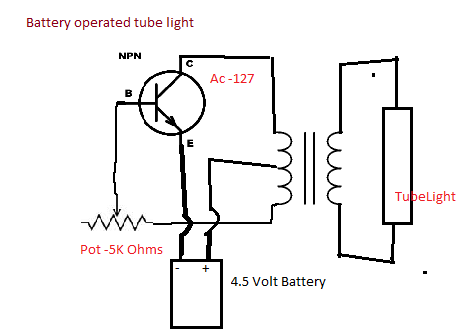 Diy Physics Projects: Making a battery operated tube light