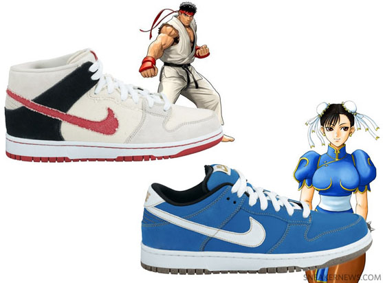 more photos f9329 7cbb0 Both gaming nerds and retroheads will go berzerk over these collectibles!  Nike features two characters in the SB Dunk series Ryu (-mid) and Chun Li  (-low).