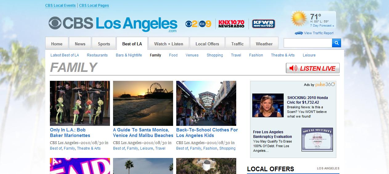 L A  Story: CBS Los Angeles Launches With Contributions From