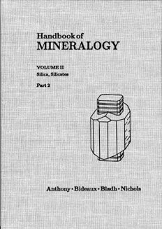 Handbook of Mineralogy - Vol. II(2): Silica, Silicates