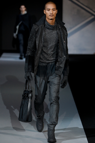 Paolo Roldan walks for Emporio Armani Fall/Winter 2011 ...