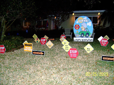 FLOCK N SURPRISE 727 687 8111 LARGO Florida Flocknsurprise Birthday Yard Signs