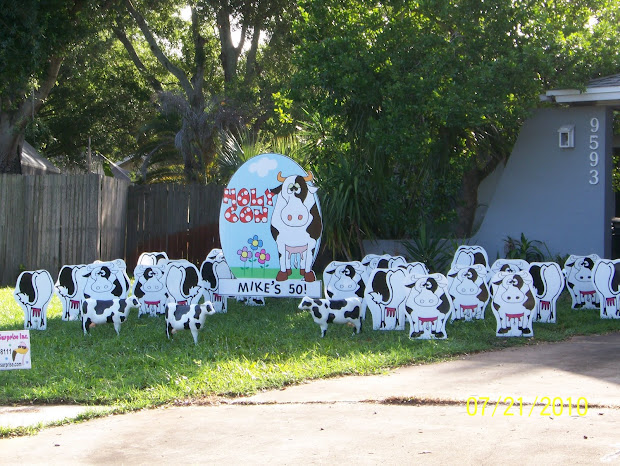 50th Birthday Yard Decoration Ideas