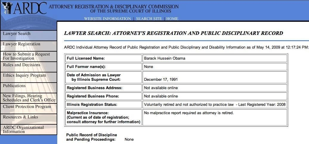 Doug Ross @ Journal To be (a lawyer) or not to be - barack obama resume