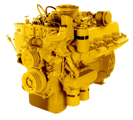 CAT 3208 Engine, Turbo Diesel, V8