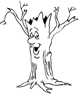 trunk of tree colouring pages