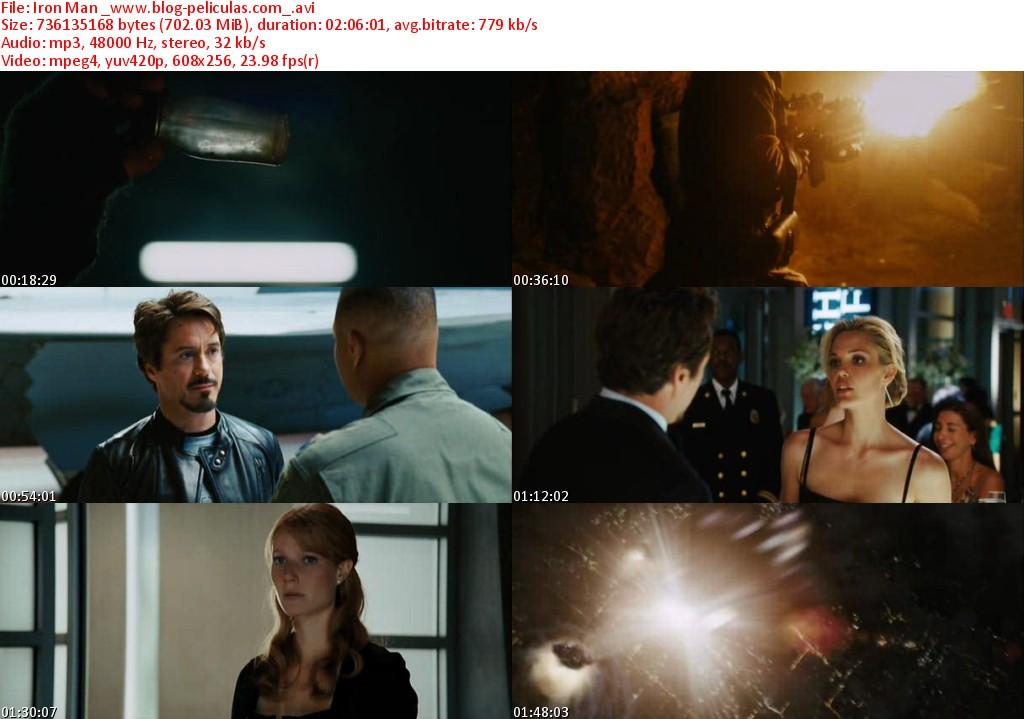 Descargar Iron Man 4 A2zp30: Descargar Iron Man Audio Español Latino DVDRip Online