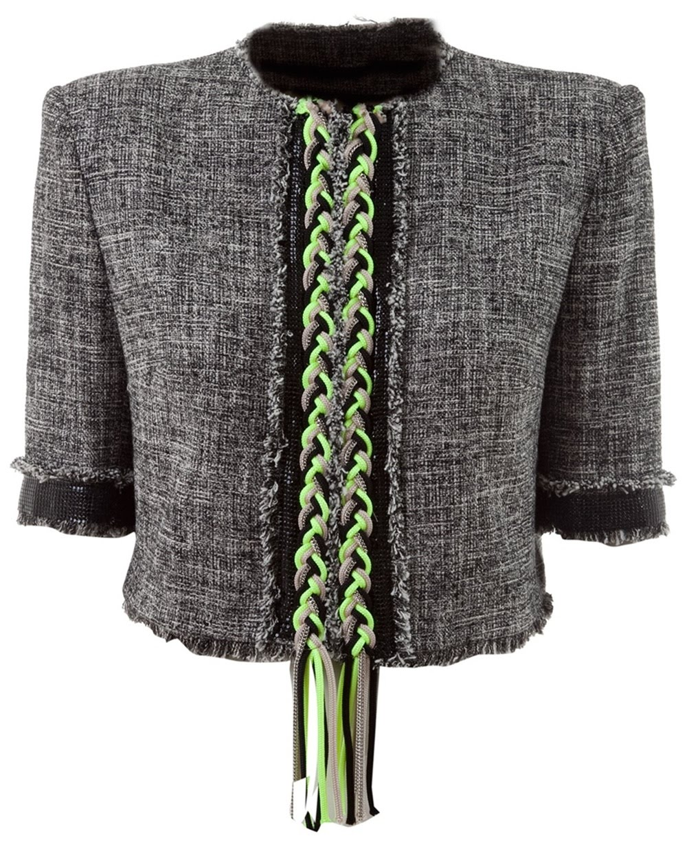 3af707af3c3 Chaquetas. MSGM - Tweed boucle jacket. Price : EUR 430,00 EUR 301,00 (30%  off) DescriptionDeliveryDesignerBoutique. Grey tweed jacket from MSGM.