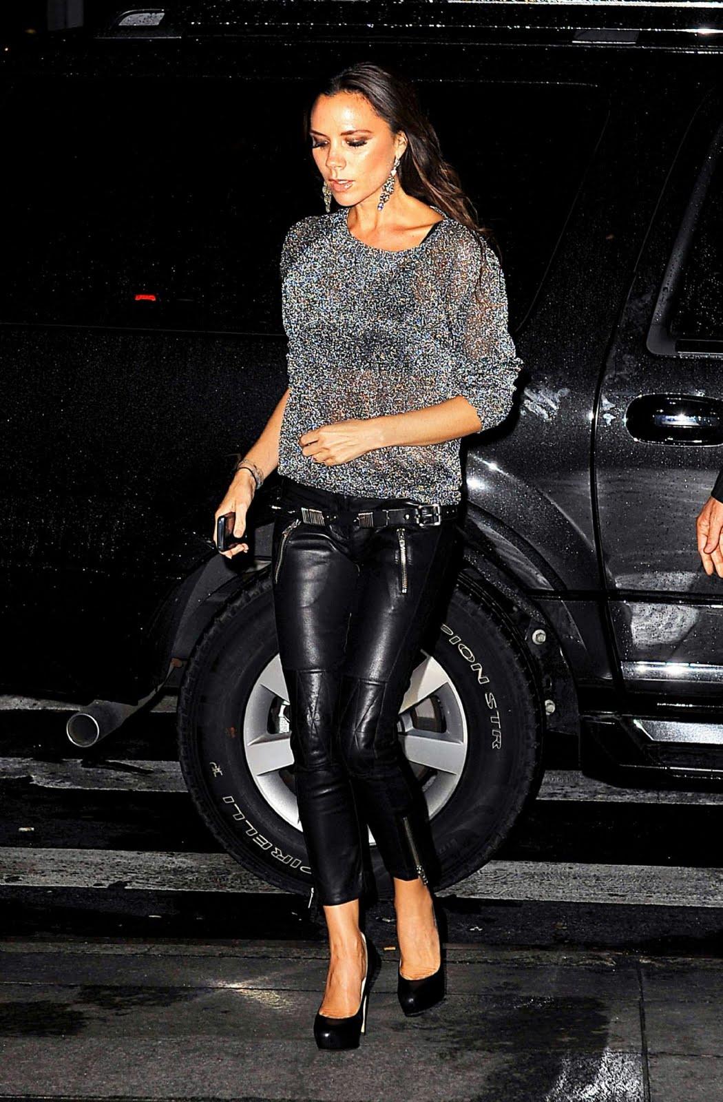 Victoria Beckham pantalones de cuero