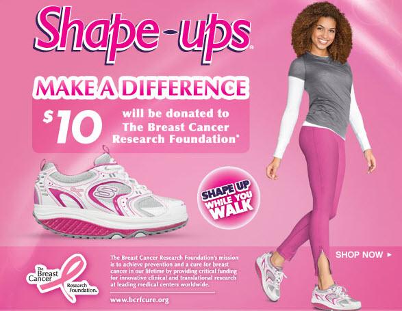 An advertisement for Skechers Shape ups footwear in