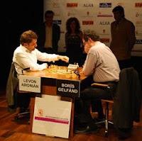 Boris Gelfand contra Levon Aronian en el XXIII Torneo Magistral de Ajedrez Ciudad de León