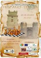 Cartel de las II Jornadas Hispano Lusas de Ajedrez