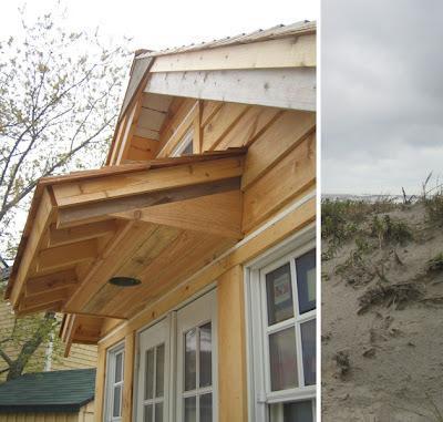 Front Door Overhang Cedar And Mahogany Trim