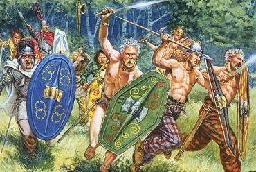 Celtic warriors naked