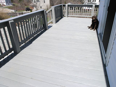 Dover Projects: Refinishing a Pressure Treated Deck