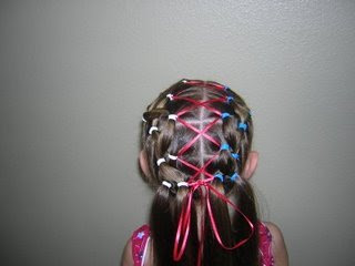 hairstyle with ribbons for girls