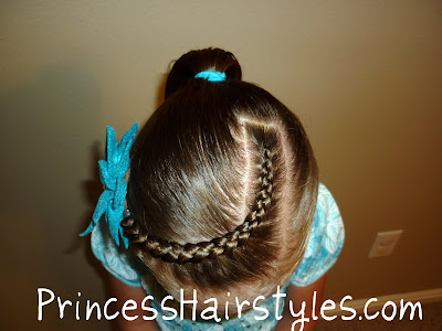 french braided bangs with ponytail