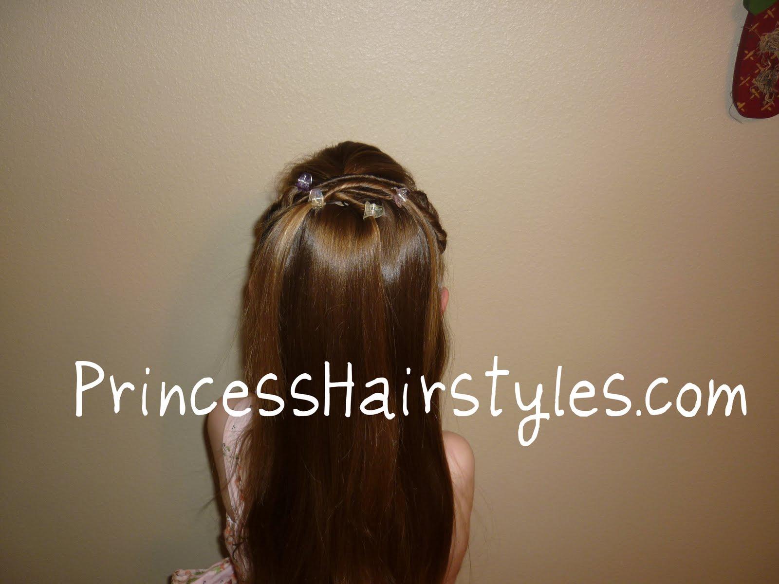 Sensational Tween Twists Princess Hairstyle Hairstyles For Girls Princess Short Hairstyles Gunalazisus
