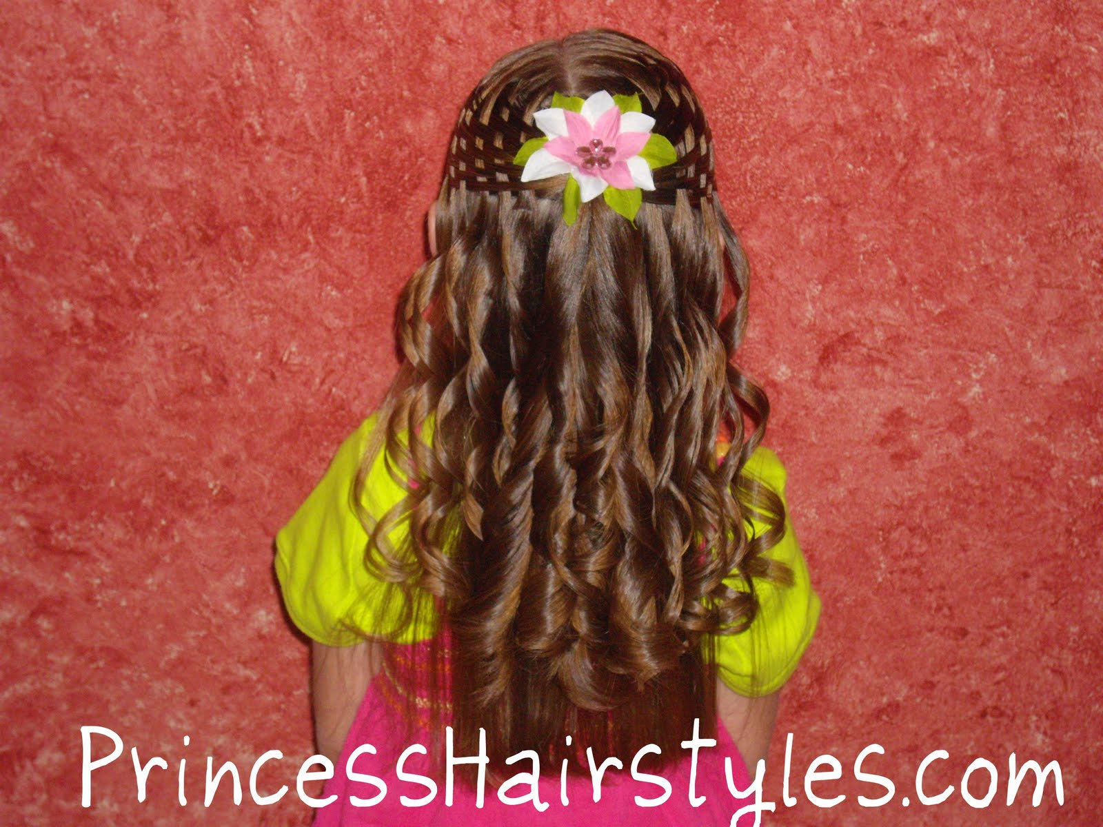 Stupendous Basket Weave Hairstyle Video Hairstyles For Girls Princess Short Hairstyles Gunalazisus